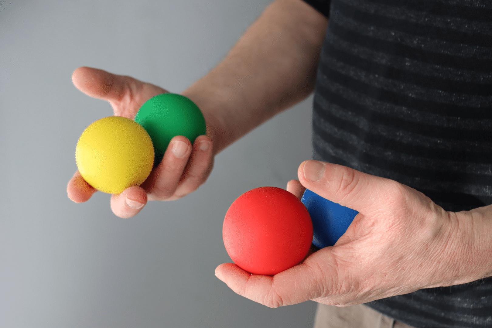Brainball - 4 balles 2 mains preparatoire GP